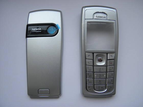 Корпус Nokia 6230 i серебро с клавиатурой class AAA, фото 2