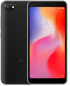 Смартфон Xiaomi Redmi 6A 2/16Gb Black Global Version GSM+GSM
