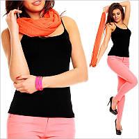 Женский шарф эффектного оранжевого цвета