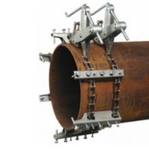 """Центратор з двома ланцюгами для труб 5-12"""" (124-305 мм) з нержавіючої сталі"""