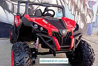 Электромобиль Джип Багги двухместный черно-красный