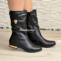 Ботинки кожаные зимние на низком ходу, фото 1
