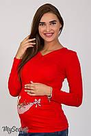 """Облегающий лонгслив для беременных """"Liv baby"""", оранжевый 2"""