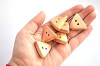 Пуговки треугольные, 30-40мм