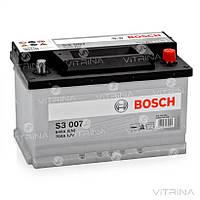 Аккумулятор BOSCH 70Ah-12v S3007 (278х175х175) со стандартными клеммами   R,EN640 (Европа)