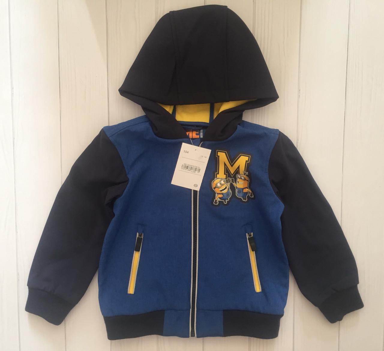 Детская куртка софтшелл для мальчика C&A Германия Размер 104
