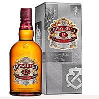 Виски Chivas Regal 1 л 12 лет выдержки 40% в подарочной упаковке