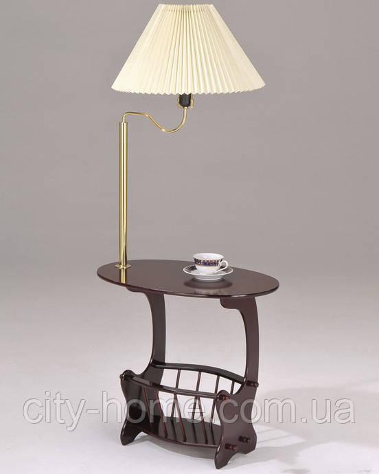Журнальный столик с лампой.