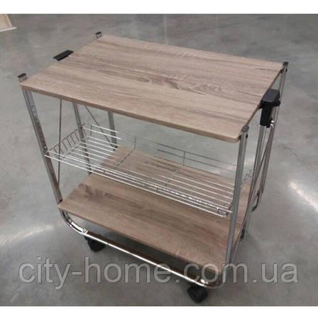 Стіл сервіровка складаний Дуб Сонома, фото 2
