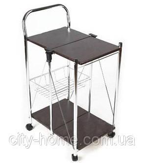 Стол сервировочный на колесах складной, фото 2