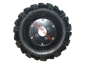 Резина 4,00-10,00 (в сборе диск,камера,покрышка)