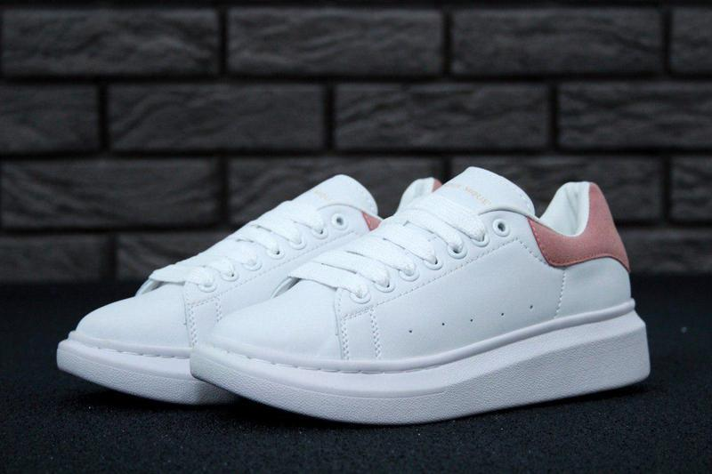 Женские кроссовки Alexander Mcqueen White Pink  9157102660584