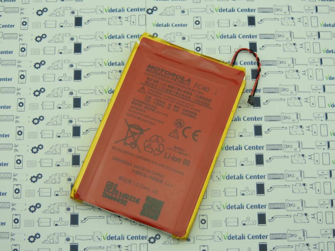 Аккумуляторная батарея FC40 для смартфона Motorola Moto G (3rd gen) XT1550 SNN5959A Б/У Оригинал, фото 2