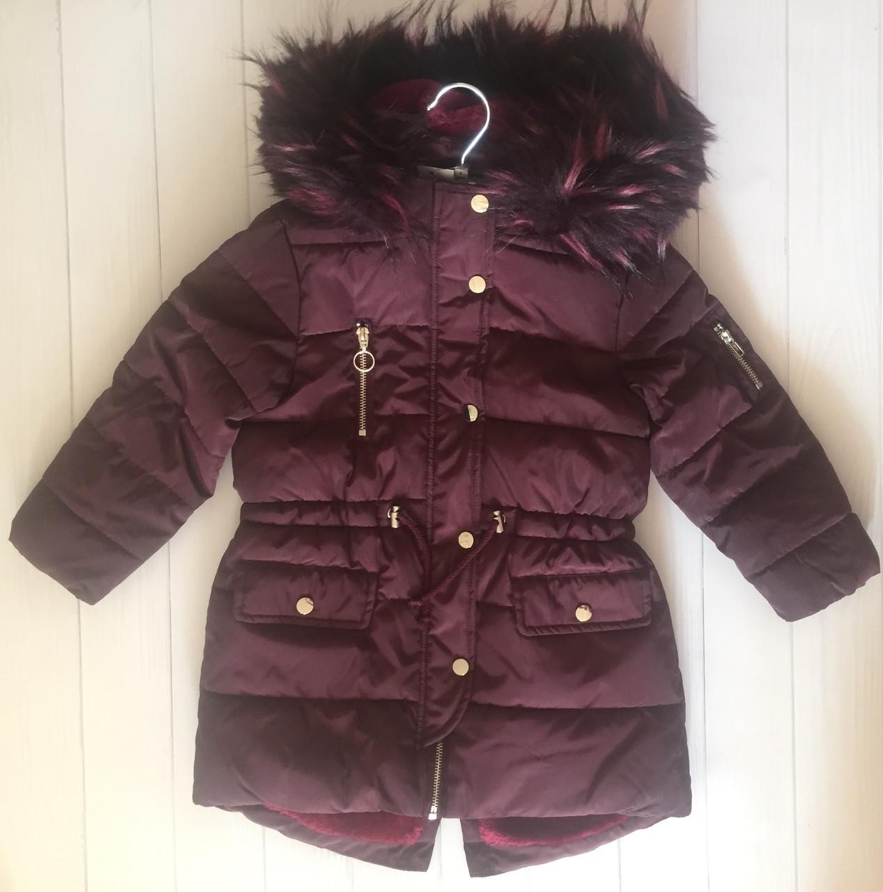 Зимняя куртка с опушкой на девочку Matalan Англия Размер 122