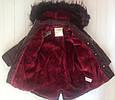 Зимняя куртка с опушкой на девочку Matalan Англия Размер 122, фото 2