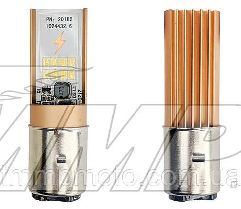 Лампа фары светодиодная LED BA200  (DC 10-35V, 720/1200 lm, 6/12W)   TMMP, фото 2