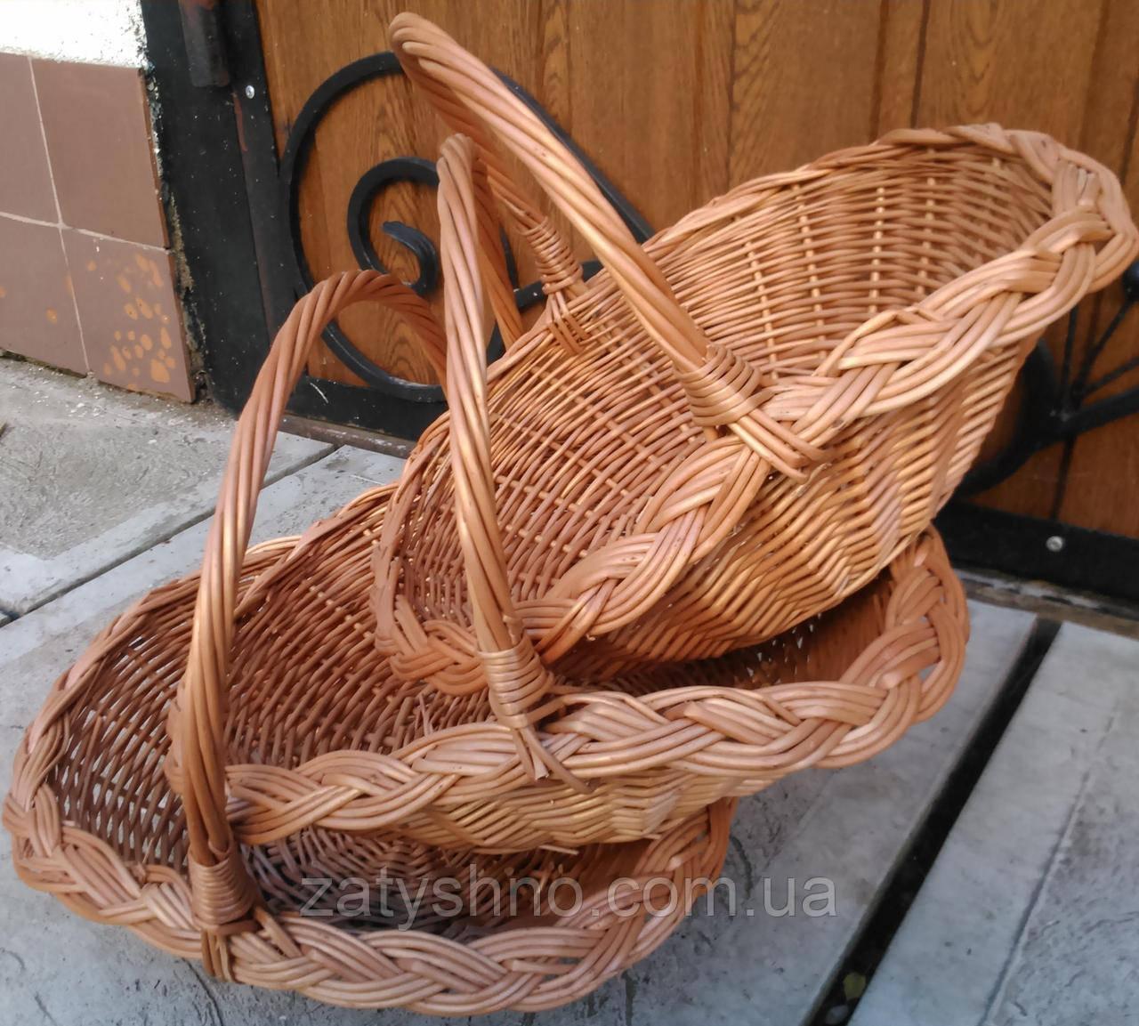 Набор плетеных корзин от производителя