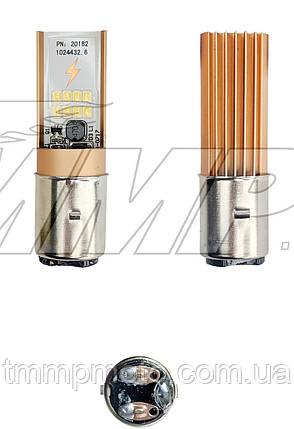 Лампа светодиодная Led для мототехники BA200  (DC 10-35V, 720/1200 lm, 6/12W)   TMMP, фото 2