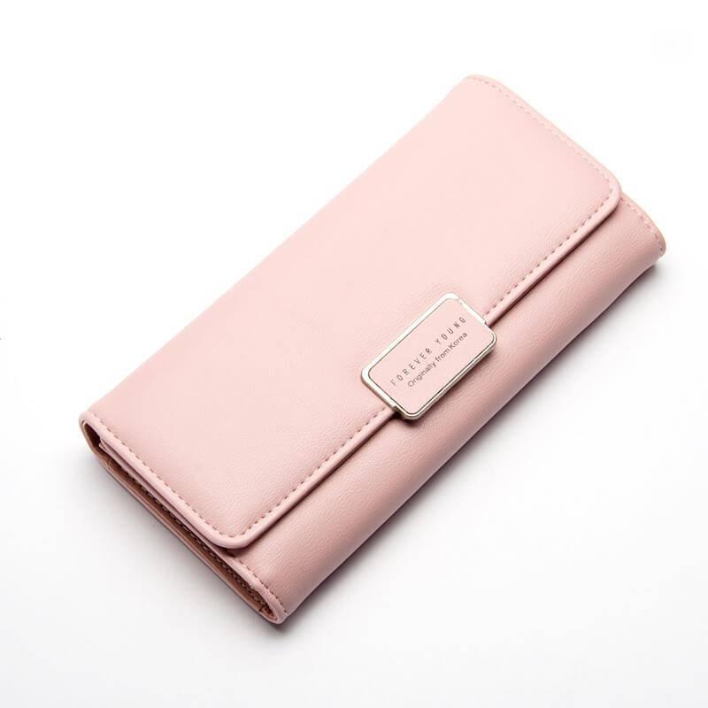 Женский кошелек, клатч Baellerry Forever Young эко-кожа розовый