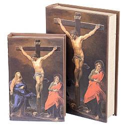 Книга-шкатулка Veronese Распятие Иисуса 2 шт 33х22х7 см 0897KSH