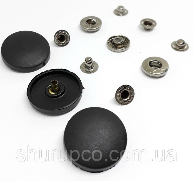 Кнопка пластикова 25 мм чорна