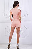 """Модный женский спортивный костюм """"Spender"""" 42-44, персиковый, фото 2"""