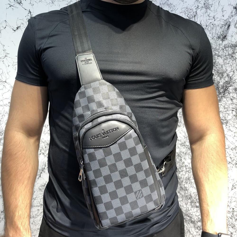 1f2ed90e0ad5 Сумка Louis Vuitton 19028 серо-черная - купить по лучшей цене, от ...