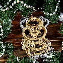 Новогодние украшение Поросенок с подарком 8 шт PIG004, фото 3