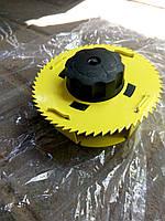 Катушка автомат кусторез желтая металлический корпус