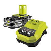 ☑️ Аккумулятор+зарядное устр-во RYOBI ONE+ RBC18L15 18V 1.5A/h