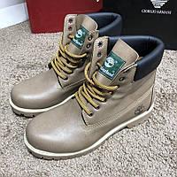 Ботинки мужские Timberland Premium 6 Inch 19031 светло-коричневые