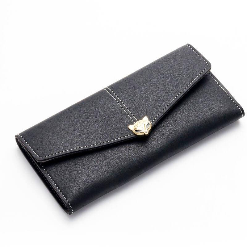 Женский кошелек, клатч Baellerry Fox эко-кожа черный