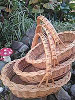 Комплект плетених кошиків, фото 1