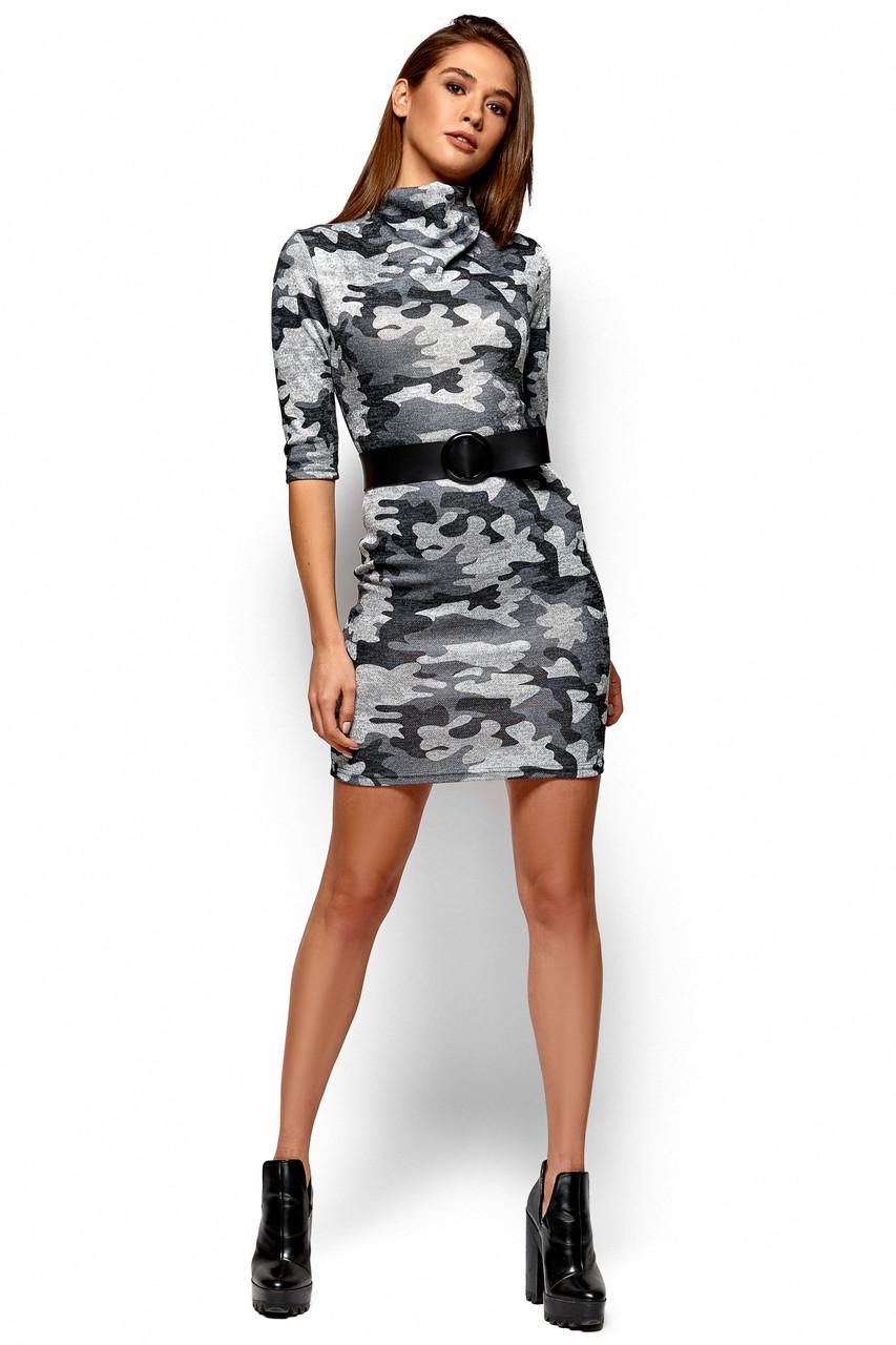 6b8001243abcd7a Платье Эдра в стиле милитари (42-48 в расцветках) - Интернет-магазин