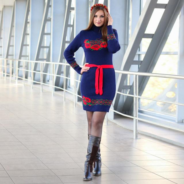 Платье с цветочным орнаментом - Оптово - розничный магазин одежды