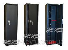 Сейф оружейный на три ружья две кассы, усилие двери СО 140/3К2П+коврик
