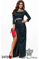 Вечернее элегантное длинное платье в пол с камнями стразами Balani фабрика  Украина размер 42-46 20e9b27326ccf