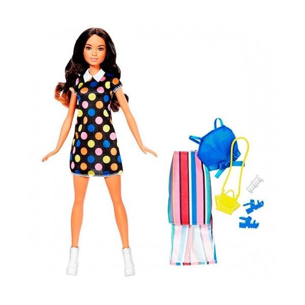 Кукла в черном платье в кружочек Стиль и красота Barbie Mattel   FFF58