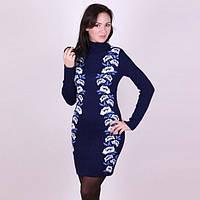8a830b8b13c Вязаное платье с цветочным принтом по бокам