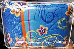 Зимнее хлопковое одеяло из овечьей шерсти полуторное оптом и в розницу, фото 3