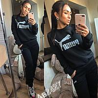 Женский утепленный спортивный костюм / трехнитка с начесом / Украина 14-499, фото 1