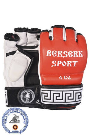 Перчатки BERSERK TRADITIONAL for Pankration approved WPC 4 oz red