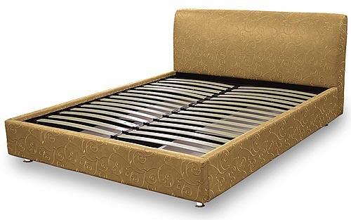 Ліжко подіум з мякою спинкою  №15  Матролюкс
