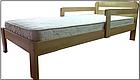 Ліжко односпальне з натурального дерева в спальню/дитячу Октавія С1(Бук)80*190 Неомеблі, фото 2