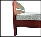 Ліжко односпальне з натурального дерева в спальню/дитячу Октавія С1(Бук)80*190 Неомеблі, фото 3