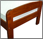 Ліжко односпальне з натурального дерева в спальню/дитячу Октавія С1(Бук)80*190 Неомеблі, фото 5