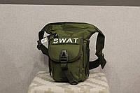Армейская универсальная (набедренная) сумка Swat Black (с307 олива), фото 1