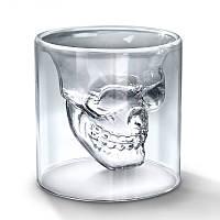 Необычный стакан с 3D черепом Doomed (1 шт.), рюмка Череп, с доставкой по Киеву и Украине