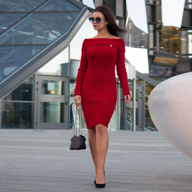 6afeedb6f3b Красивенное трикотажное женские платье  продажа