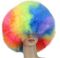 Разноцветные парики, пышные густые радужные волосы для танцев, косплей, анимэ